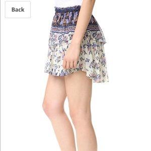 Loveshackfancy mini skirt in purple